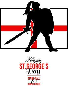 Happy St George Day Stand Tall and Proud Greeting Card by patrimonio