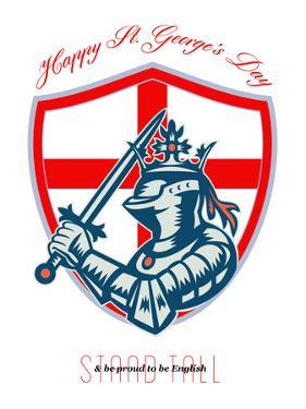 Proud to Be English Happy St George Day Shield Card by patrimonio