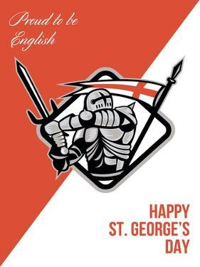 Proud to Be English Happy St George Greeting Card by patrimonio