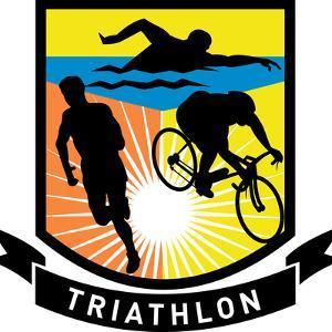 Triathlon Run Swim Bike Shield by patrimonio