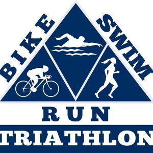 Triathlon Run Swim Bike by patrimonio