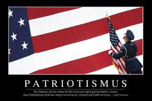 Patriotismus: Motivationsposter Mit Inspirierendem Zitat