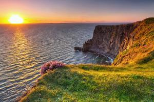 Cliffs of Moher at Sunset in Co. Clare, Ireland by Patryk Kosmider