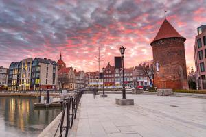 Sunset in Old Town of Gdansk at Motlawa River, Poland by Patryk Kosmider