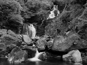 Torc Waterfall in Ireland Black and White by Patryk Kosmider