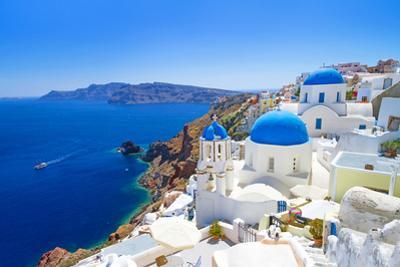 White Architecture of Oia Village on Santorini Island, Greece by Patryk Kosmider