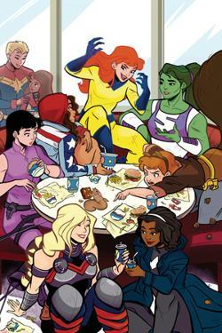 Patsy Walker, A.K.A. Hellcat! No.2 Cover, Featuring Captain Marvel, Ms. Marvel and More