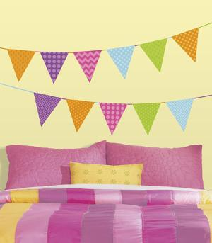 Patterned Pennants Peel and Stick Wall Decals