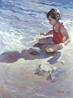 Little Girl on the Beach by Patti Mollica