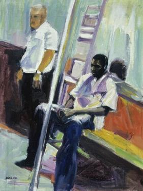 Subway Riders, New York City by Patti Mollica