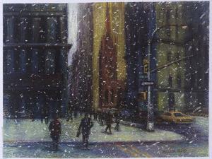 Wall Street Blizzard, New York City by Patti Mollica