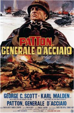 Patton ,(AKA Patton Cenerale D'Acciaio), Italian Poster Art, George C. Scott, 1970