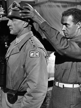 """Patton"" by Franklin Schaffner with George C. Scott, 1970 (b/w photo)"