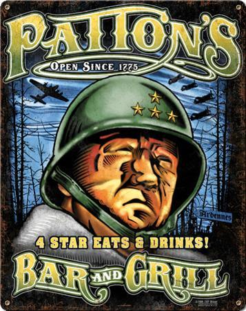 Patton's Bar & Grill Steel Sign
