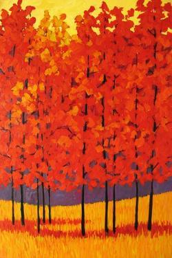 Red Tree Forest by Patty Baker