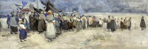 The Beach, Berck-Sur-Mer, c.1900 by Patty Townsend Johnson