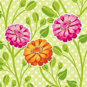Zinnias I by Patty Young