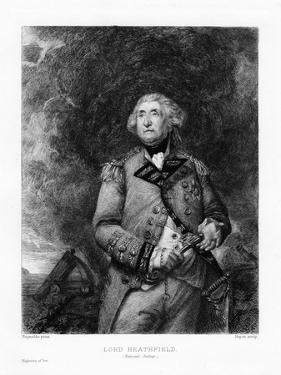 George Augustus Eliott, Lord Heathfield by Paul Adolphe Rajon
