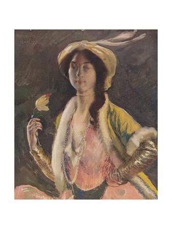 'Portrait of Miss B', 1908, (c1932)