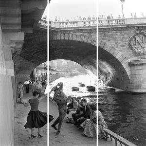Rock 'N' Roll Dancers On Paris Quays, River Seine, by Paul Almasy