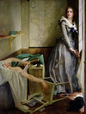 Portrait of Charlotte Corday (1768-93), 1858 by Paul Baudry