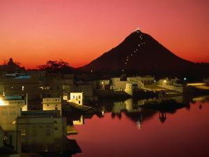 City at Sunset, Pushkar, India by Paul Beinssen