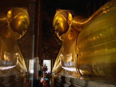 Reclining Buddha in Wat Thammamongkhon, Bangkok, Thailand