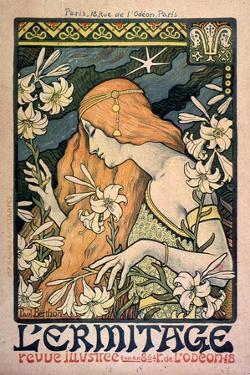 L'Ermitage, Revue Illustrée, Poster, 1897 by Paul Berthon