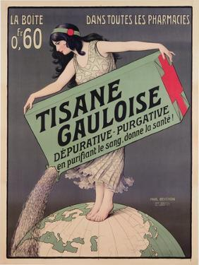 Poster Advertising Tisane Gauloise, Printed by Chaix, Paris, C.1900 (Colour Litho) by Paul Berthon