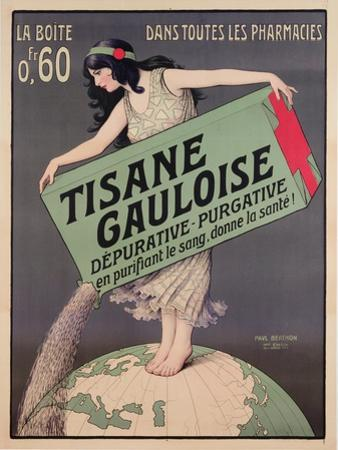 Poster Advertising Tisane Gauloise, Printed by Chaix, Paris, C.1900 (Colour Litho)