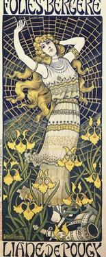 Poster for Show of Dancer Liane De Pougy (1869-1950) at Folies Bergere by Paul Berthon