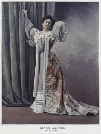 Jeanne Cheirel, French Actress by Paul Boyer