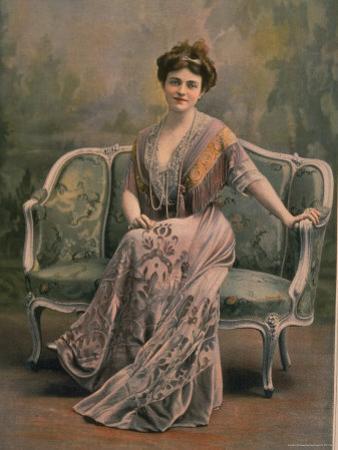 Mlle. Maud Amy in Pale Mauve Burn Out Velvet and Chiffon Toilette de Maison Designed by Drecoll by Paul Boyer