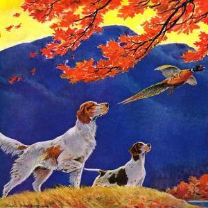 """Pointing to the Pheasant,""November 1, 1937 by Paul Bransom"