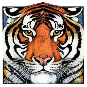 """Tiger Head,""September 18, 1926 by Paul Bransom"