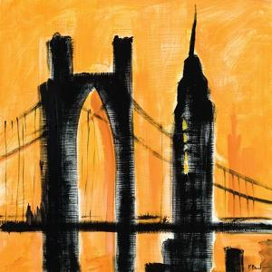 Amber Cityscape by Paul Brent