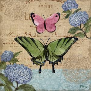 Burlap Butterflies I by Paul Brent