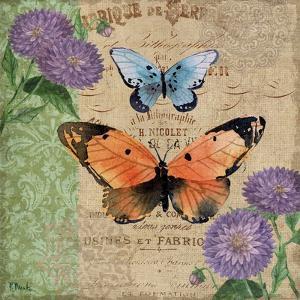 Burlap Butterflies II by Paul Brent