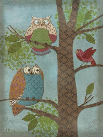 Fantasy Owls Vertical II by Paul Brent