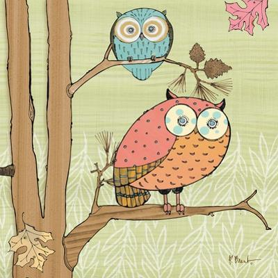Pastel Owls I by Paul Brent