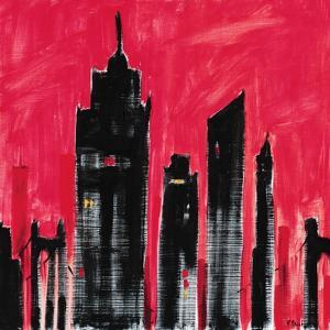 Red Cityscape by Paul Brent