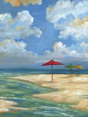 Umbrella Beachscape I by Paul Brent