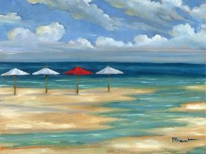 Umbrella Beachscape III by Paul Brent