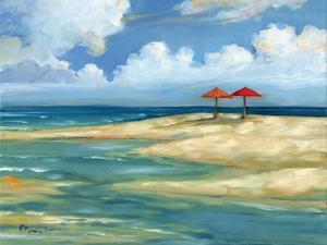 Umbrella Beachscape IV by Paul Brent