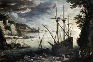 Harbor, 1611 by Paul Bril