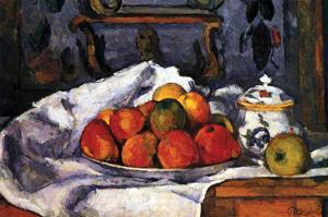 Still Life Bowl of Apples by Paul C?zanne
