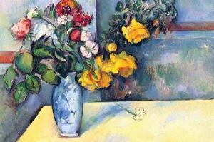 Still Life with Flowers in a Vase by Paul C?zanne