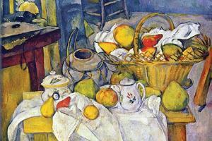 Still Life with Fruit Basket by Paul C?zanne