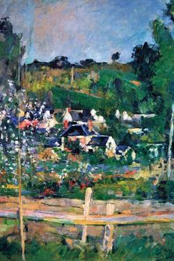 Village Behind the Fence by Paul C?zanne