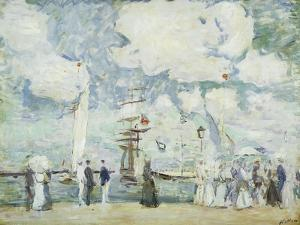 Harbour Entrance at Deauville by Paul Cesar Helleu